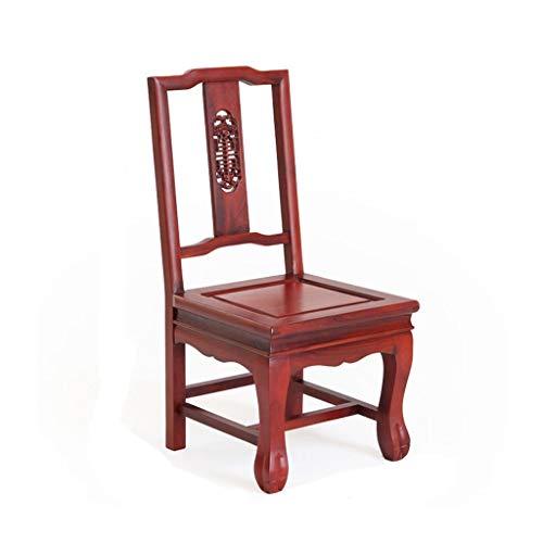 Chaises Chaise en Bois Massif Chaise à Ressorts Chaise d'été Repose-Pieds pour Enfants Tabouret de Salle de Bain âgé Chaise en Bois Massif Chaise en ébène (Color : Red, Size : 34cm*32cm*71.5cm)