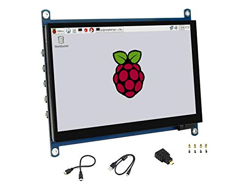 7inch QLED Quantum Dot Display 1024×600 Capacitive Touch Screen IPS LCD G+G Toughened Glass Panel with Wider Color Gamut,More Pure Chroma for Raspberry Pi, Jetson Nano