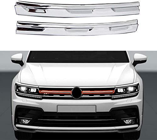Yueng Para VW Volkswagen Tiguan mk2 Cubierta de rejilla de rejilla de malla de centro delantero de acero inoxidable Ajuste 2016-2019,2-pack