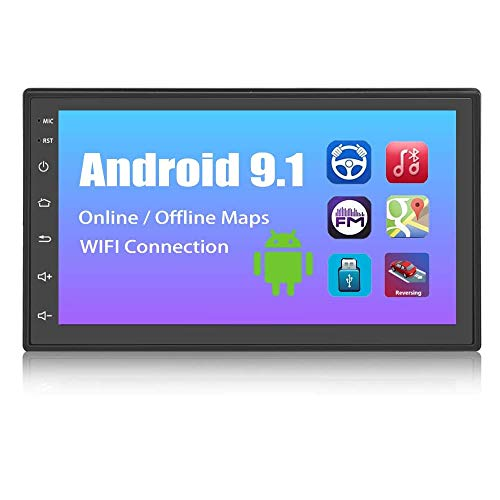 Double Din Car Radio 7 Inch Android Car Stereo 2 Din Touch Screen Radio Car Multimedia Player Indash Head Unit Support WiFi/SWC/DVR/Mirror Link/USB/FM/Rear View Car Audio