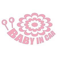 imoninn BABY in car ステッカー 【シンプル版】 No.27 デンデンムシさん (ピンク色)