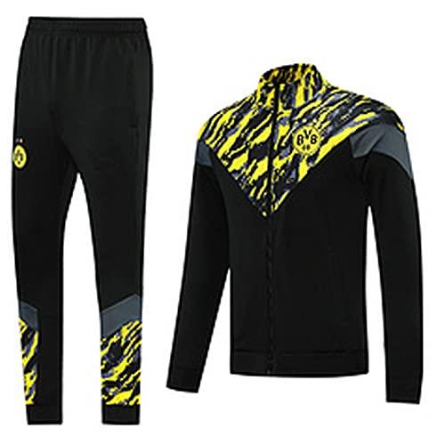 QZZQ 2122 ddddddd.rtm nueva apariencia Jersey apariencia Jersey, manga larga, chándales de fútbol para hombre, traje de entrenamiento casual, deportes espaciales, cómodo de secado rápido S