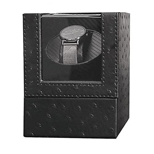 ANTLSZH Reloj Shaker Single Electric Watch Box Caja De Reloj De Bobinado Automático con Motor Tranquilo Y Cuero De Cuero De PU para Relojes De Hombre/Mujer