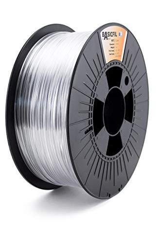 BASICFIL PET 2.85mm 1 kg, TRANSPARENT (clear), 3D Drucker Filament