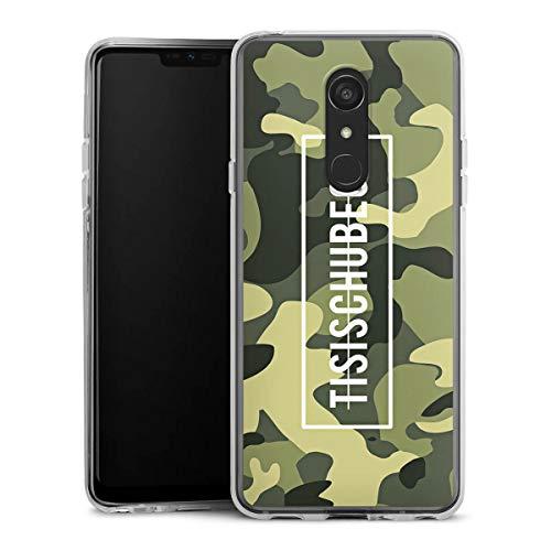 DeinDesign Silikon Hülle kompatibel mit LG G7 Fit Hülle transparent Handyhülle Camouflage Tisi Schubech YouTube