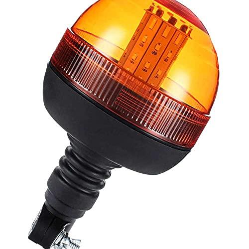 qinjun 12 V 24 V LED coche camión techo luz estroboscópica advertencia señal lámpara intermitente emergencia faro para tractor remolque barco