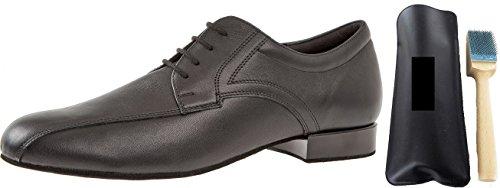Diamante 094–025–028Hombre Zapatos de Baile Incluye MC de Danza aufrauh Cepillo, Color Negro, Talla 46