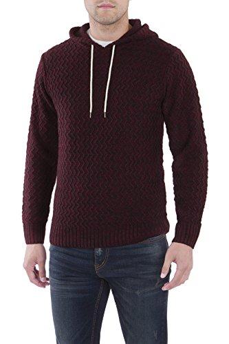 UNIONBAY Men's Drawcord Sweater Hoodie, Currant, Medium