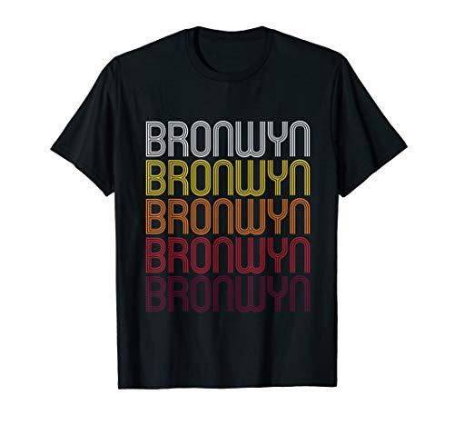 Bronwyn Retro Wordmark Pattern - Vintage Style T-shirt