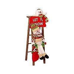JPJ(TM) ❤️Santa Claus❤️1pcs Christmas Hot Fashion Santa Claus Climbing On Rope Ladder Figure Xmas Trees Outdoor Decor (B)