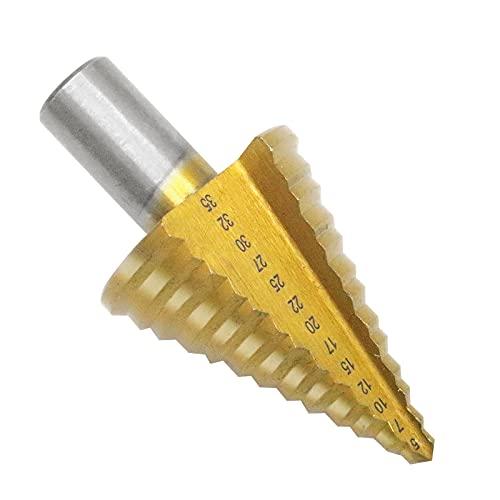 RUIZHI Punte Trapano Metallo 5-35mm, Fresa Conica Trapano a Gradini Strumento di Perforazione HSS Frese per Legno