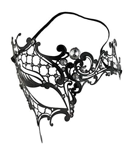 Dark Dreams Augenmaske mit Strasssteinen