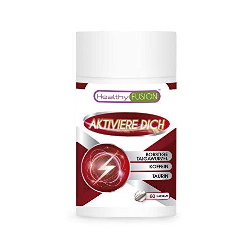 Taurin + Koffein + Taigawurzel | Starkes Energie Etimulierungsmittel | Entfernt Müdigkeit, verbessert die körperliche Widerstandskraft und verstärkt die Muskelleistung | 60 Kapseln