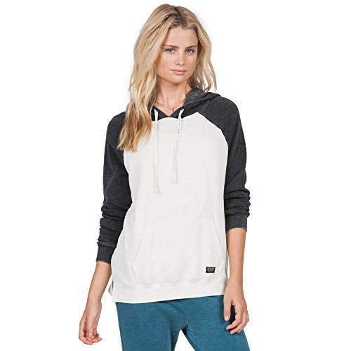 Volcom Lived in CB Po Sweat-Shirt Femme, Vintage White, FR (Taille Fabricant : XS)