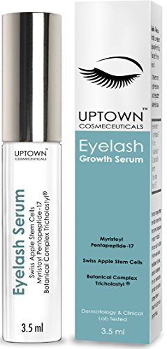 Uptown Cosmeceuticals Eyelash Growth Serum Contains Stem Cell & Myristoyl Pentapeptide-17,...