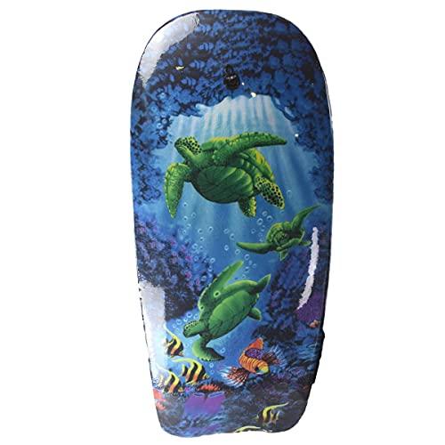 Marabella Bodyboard 98cm Schildkröte, Wal, Fische, Strand, Robbe oder Blumen Schwimmbrett, Motiv:Schildkröte