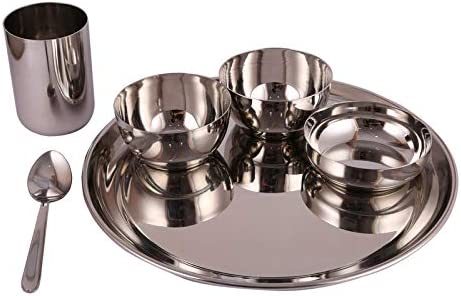 5Elements Long Beach Mall Stainless Steel Plane Thali Big Set Dinner Plate Ranking TOP19