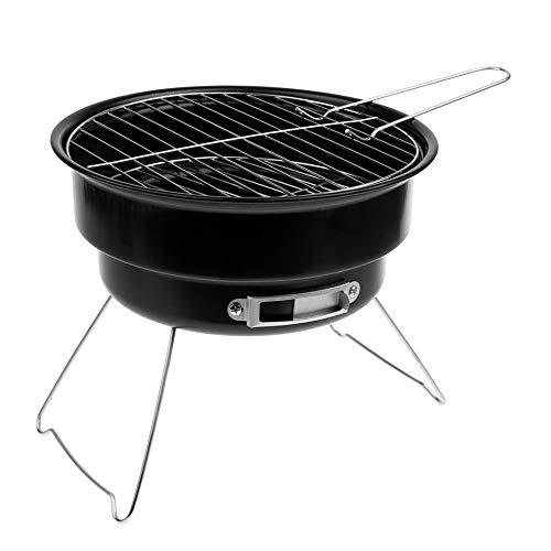 Barbecue Au Charbon De Jardin, Barbecue en Acier Inoxydable, Brûleurs De Barbecue pour 2-3 Personnes avec Poignée pour Voyage Camping en Plein Air