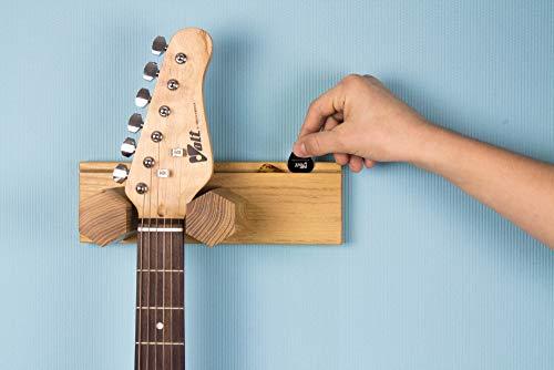 Universeller Gitarrenhalter Gitarrenständer Wand Gitarrenwandhalter aus Holz für Akustikgitarre, klassische Gitarre, E-Gitarre, Bass, Ukulele (ohne Gravur)