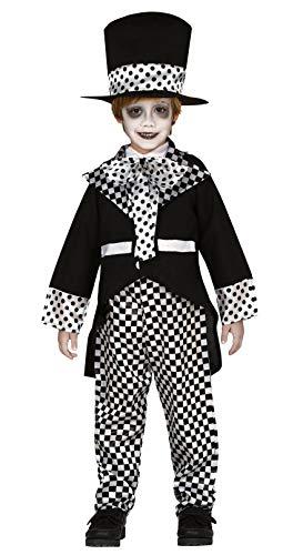 Guirca Verrückter Hutmacher Kostüm für Jungen - Größe 98-146 - Kinder Fasching Karneval Halloween, Größe:128/134