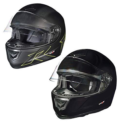 RT-720 Integralhelm Motorradhelm Motorrad Integral Roller Quad Helm Kinderhelm, Größe:M (57-58), Farbe:Elementor