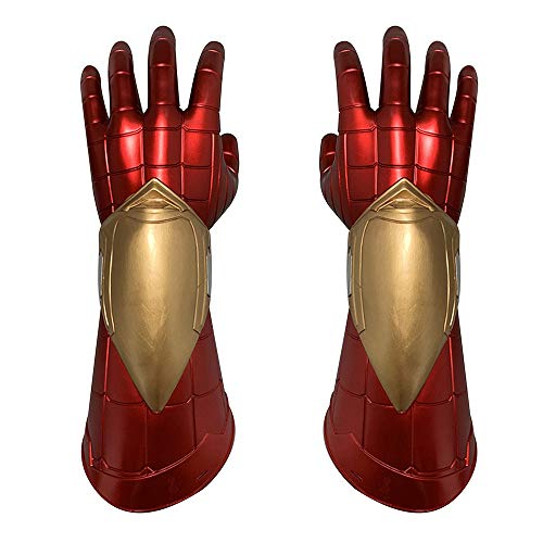 K-Y YK Iron Man Luminous Helmet Cosplay Halloween Props Film Iron Man mask Eye Induction Luminous Model Ornaments (Gloves)
