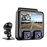 4K Dual Dash Cam, EACHPAI Car Dash Camera with 4K Front and 1080P Cabin Dual Lens, Car Driving Recorder with 3 Inch LCD Display, GPS, IR Night Vision, Parking Mode, G-Sensor, Motion Detector for Car
