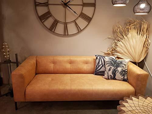 Vintagehaus Ledersofa Bull 3 oder 4-Sitzer Cognac 210/260 (213 x 90 x 72 cm)