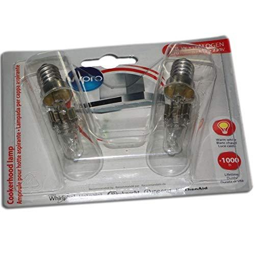 WHIRLPOOL - LMH009 AMPOULE HOTTES - T25L - 40W X2 pour hotte BRANDT