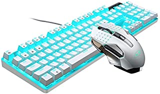 BOXIANGY E-sports game mechanical keyboard computer peripherals USB wired real axis real mechanical White blue blue blue b...