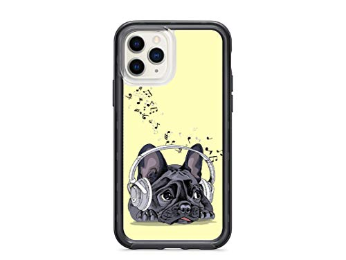 Kaidan Cute Dog Case for iPhone 11 Pro Max XR X XS SE 2020 French Bulldog 5 5S 6S 6 8 7 Plus Samsung Galaxy S10e S20 S9 S8 Plus Kawaii Puppy Note 10 9 8 S10 + Google Pixel 3 2 XL Music Notes appd691