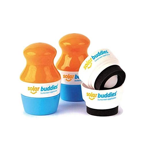 Solar Buddies Child Friendly Sunscreen Applicators, and Lotion Dispenser (2 x Yellow + 2 x Replacement Heads)