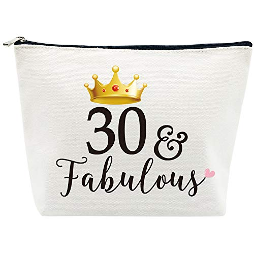 30 and Fabulous Make-Up Bag, Cotton Canvas