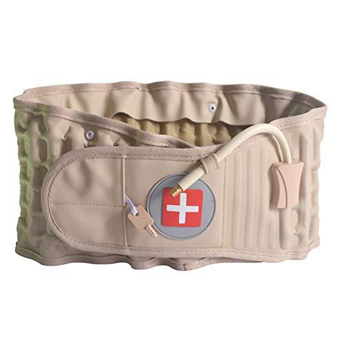 Cintura di supporto lombare gonfiabile, supporto lombare per alleviare il dolore alla schiena, dispositivo di supporto lombare fornito con pompa ad aria, cinghia di ricambio