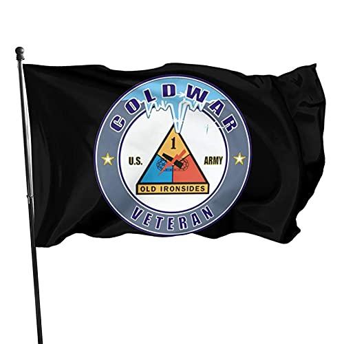 Cedahar US Army Guerra Fredda Prima Divisione Corazzata Veterano 35 US Flag 3X5 USA Bandiera Piede Bandiera Bandiera Bandiera del Giardino Casa Bandiere Esterna