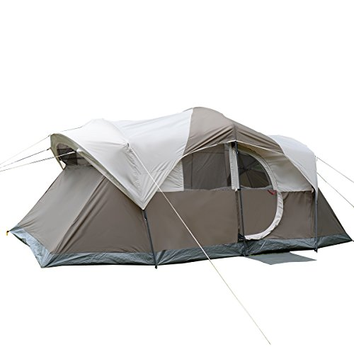 Tangkula 10-Person Waterproof Family Double Layer Camping Tent w/Bag