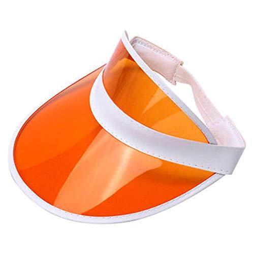 Viner vrouwen zon hoeden casual anti ultraviolet transparante hoeden uv-bescherming zon hoeden vizier outdoor plastic zonnescherm caps groothandel, 04