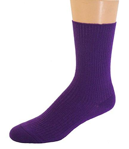 Shimasocks Damen Socken Wolle ohne Gummi, Größe:35/38, Farben alle:lila