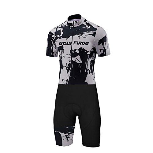 Uglyfrog MTB International Herren-Triathlon-Anzug mit Hera, für, Radfahren, Laufen Skinsuit with Gel Pad Gepolsterter Prämium Triathlon Tri Anzug