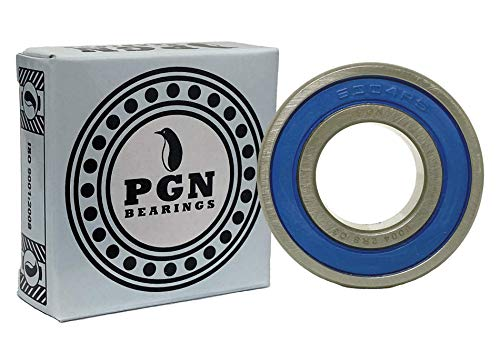 (10 Pack) PGN 6004-2RS Sealed Ball Bearing - C3-20x42x12 - Lubricated - Chrome Steel