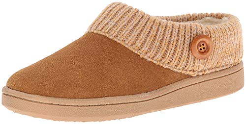 Clarks Women's Knit Scuff Slipper, Cinnamon, 8 M US