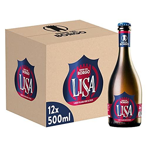 Birra Del Borgo Lisa, Bottiglia - Pacco da 12 x 500 ml
