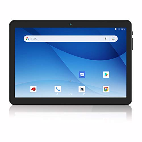 Android Tablet 10 Inch, 3G Phablet Android 9.0 Pie, Dual SIM Card Slots and Cameras, GMS Certified, 32GB, Bluetooth, WiFi, GPS, OTG (Black)