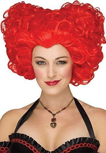Fancy Me Damen Rote Königin der Herzen Iracebeth Cosplay Karneval Konvention Kostüm Kleid Outfit Zubehör Perücke