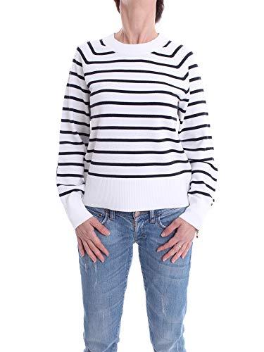 Tommy Hilfiger Damen Kara C-nk SWTR Sweatshirt, Blau (Desert Sky/White STP SWT 0bd), 42 (Herstellergröße: XX-Large)