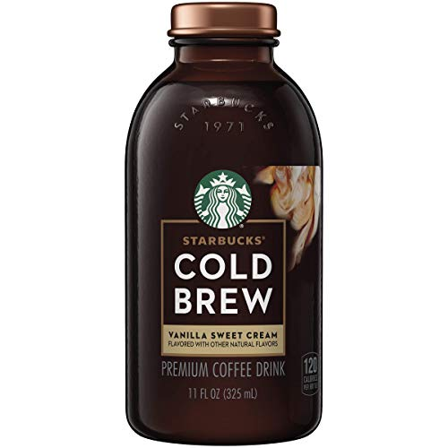Starbucks - RTD Coffee, Cold Brew 11oz Bottles Pack, Vanilla Sweet Cream, 6 Count