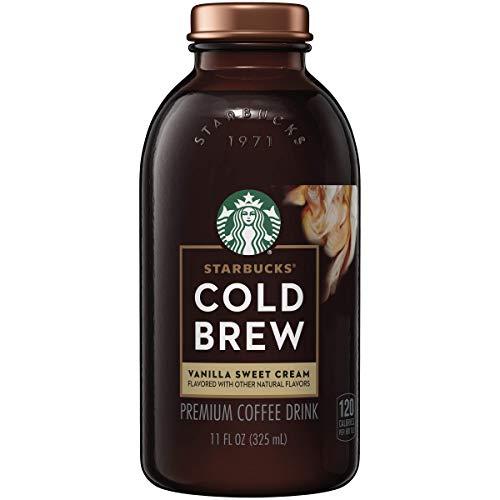 Starbucks Cold Brew Coffee, Vanilla Sweet Cream, 11oz Bottles (6 Pack)
