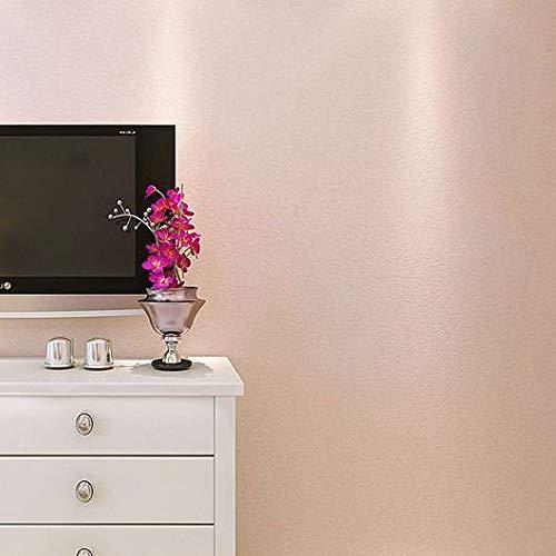 Vliesbehang roze Uni slaapkamer woonkamer TV achtergrond mat donkerblauw grijs zijdebehang effen 0.53m*10m N75264 pale pink.