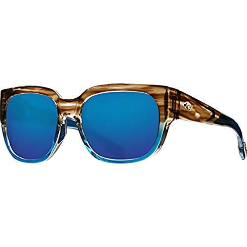Costa Women's Waterwoman Sunglasses Shiny Wahoo/Blue Mirror 580G 55 & Carekit