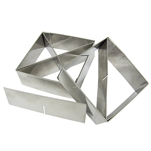 Multifunctional Pastry Cutter (2-Piece Set) - Heavy Gauge 18/10 Stainless Steel, (4-inch and 3.5-inch) with 2 Removable Blades, includes Recipes